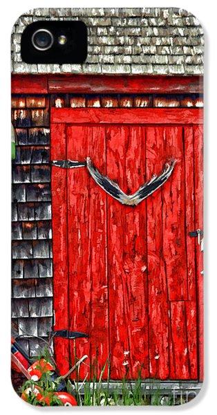 Shanty iPhone 5 Cases - A Door In Maine iPhone 5 Case by Darren Fisher