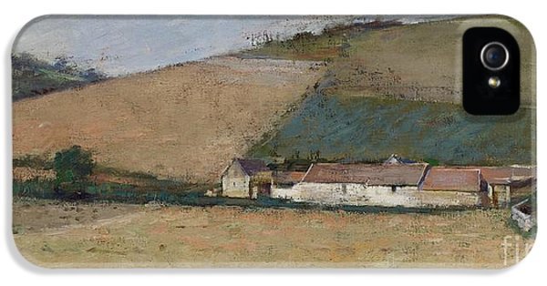 A Farm Among Hills IPhone 5 / 5s Case by Theodore Robinson