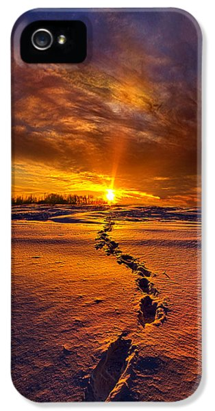 Blue Leaf iPhone 5 Cases - A Journey To The Shining Star iPhone 5 Case by Phil Koch