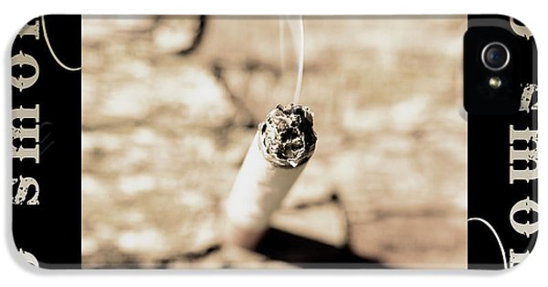 Nicotine iPhone 5 Cases - A lit cigarette iPhone 5 Case by Toppart Sweden