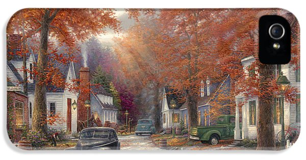 Classic Car iPhone 5 Cases - A Moment On Memory Lane iPhone 5 Case by Chuck Pinson
