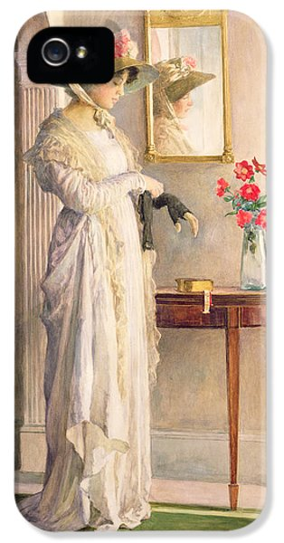 Contemplative iPhone 5 Cases - A Moments Reflection iPhone 5 Case by William Henry Margetson