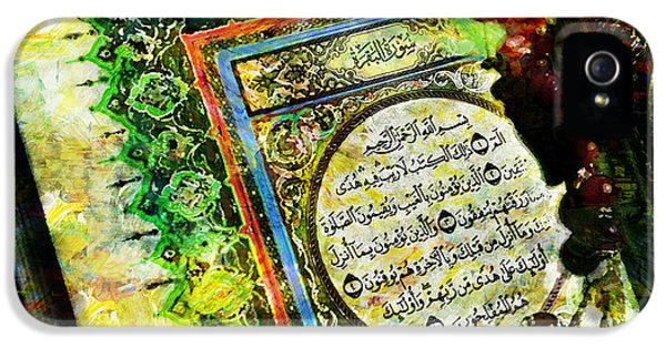 Islamabad iPhone 5 Cases - A page from Quran iPhone 5 Case by Catf