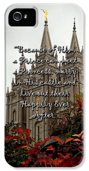 Slc iPhone 5 Cases - A Prince Can Meet a Princess iPhone 5 Case by La Rae  Roberts