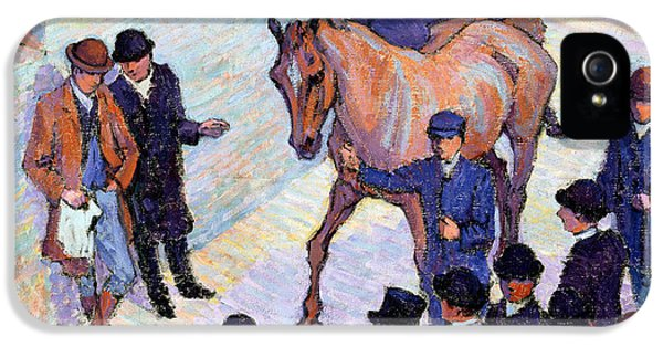 A Sale At Tattersalls, 1911 IPhone 5 / 5s Case by Robert Polhill Bevan