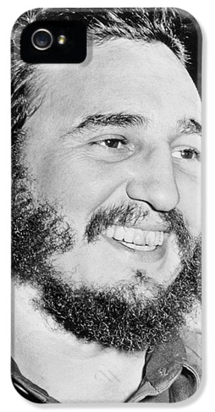 A Smiling Fidel Castro IPhone 5 / 5s Case by Underwood Archives