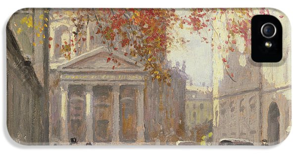 Danish iPhone 5 Cases - A Street In Copenhagen Oil On Canvas iPhone 5 Case by Paul Fischer