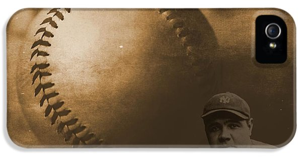 The Dream Team iPhone 5 Cases - A Tribute To Babe Ruth And Baseball iPhone 5 Case by Dan Sproul