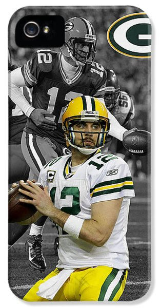 Padded iPhone 5 Cases - Aaron Rodgers Packers iPhone 5 Case by Joe Hamilton