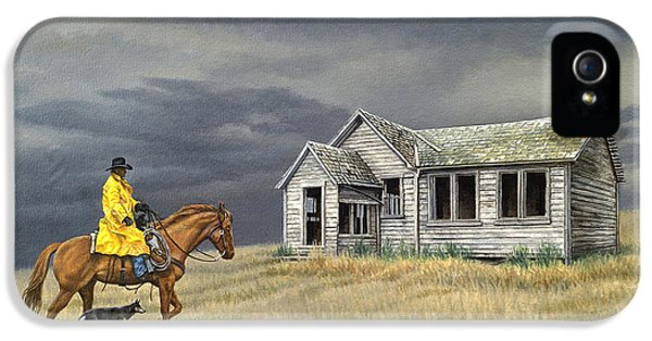 Old Houses iPhone 5 Cases - Abandoned Homestead-Eastern Idaho iPhone 5 Case by Paul Krapf
