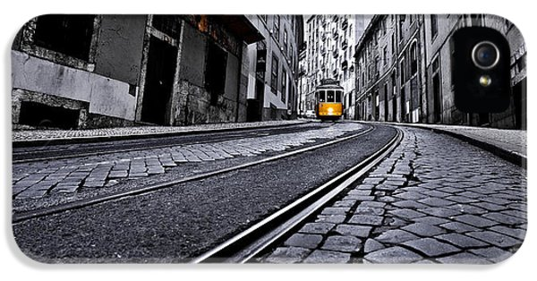 Old Tram iPhone 5 Cases - Abandoned way iPhone 5 Case by Jorge Maia