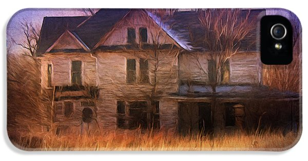 Haunted Houses iPhone 5 Cases - Abandonment At Nightfall iPhone 5 Case by Georgiana Romanovna