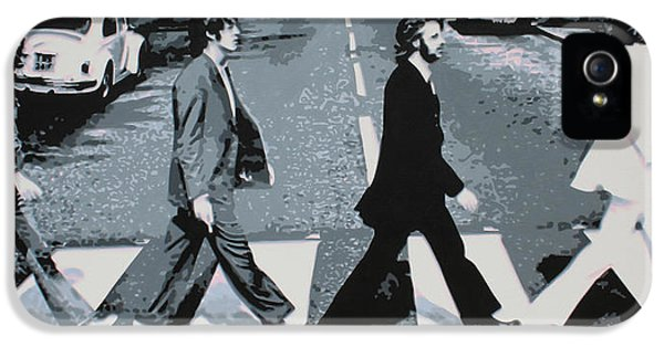 Ringo Starr iPhone 5 Cases - Abbey Road 2013 iPhone 5 Case by Luis Ludzska
