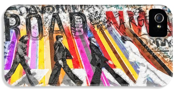 Mo T iPhone 5 Cases - Abbey Road iPhone 5 Case by Mo T