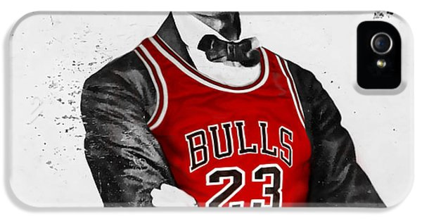 Abraham Lincoln iPhone 5 Cases - Abe Lincoln in a Bulls Jersey iPhone 5 Case by Roly Orihuela