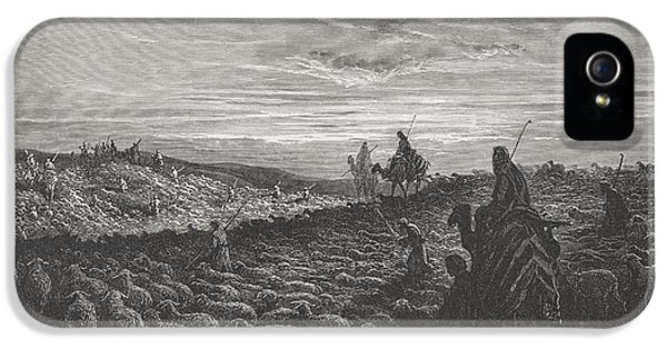 Abraham Journeying Into The Land Of Canaan IPhone 5 / 5s Case by Gustave Dore
