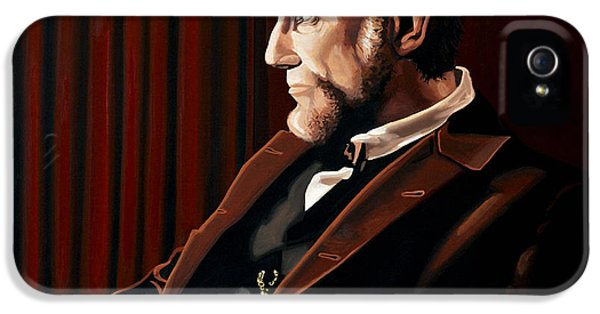 Abraham Lincoln iPhone 5 Cases - Abraham Lincoln by Daniel Day-Lewis iPhone 5 Case by Paul Meijering