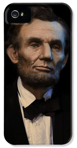Abraham Lincoln Portrait IPhone 5 / 5s Case by Ray Downing