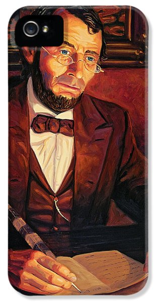 Gettysburg Address iPhone 5 Cases - Abraham Lincoln iPhone 5 Case by Steve Simon