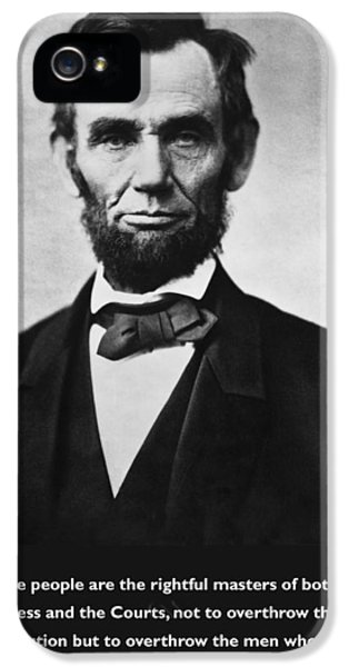 We The People iPhone 5 Cases - Abraham Lincoln We The People iPhone 5 Case by Unknown