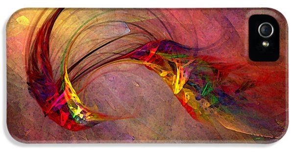 Contemplative iPhone 5 Cases - Abstract Art Print Hummingbird iPhone 5 Case by Karin Kuhlmann
