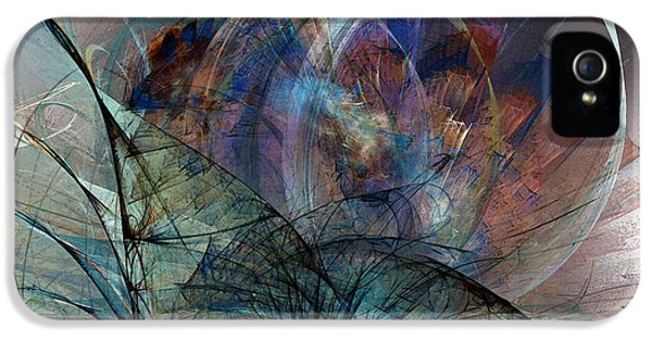 Contemplative iPhone 5 Cases - Abstract Art Print In the Mood iPhone 5 Case by Karin Kuhlmann