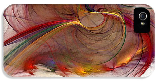 Contemplative iPhone 5 Cases - Abstract Art Print Inflammable Matter iPhone 5 Case by Karin Kuhlmann
