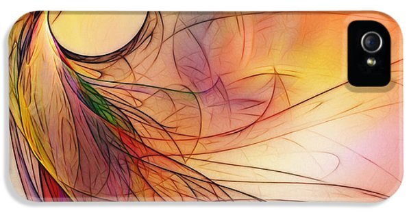 Contemplative iPhone 5 Cases - Abstract Art Print Sunday Morning Sidewalk iPhone 5 Case by Karin Kuhlmann