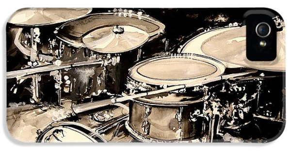 Abstract Drum Set IPhone 5 / 5s Case by J Vincent Scarpace
