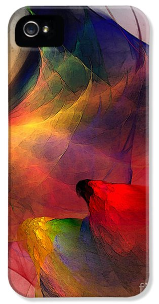 Contemplative iPhone 5 Cases - Abstract Exotic Birds iPhone 5 Case by Karin Kuhlmann