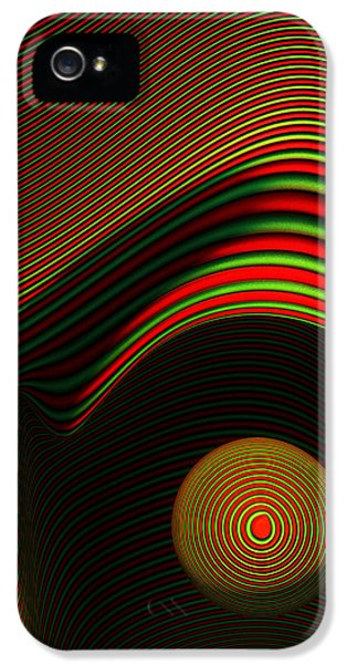Computer iPhone 5 Cases - Abstract eye iPhone 5 Case by Johan Swanepoel