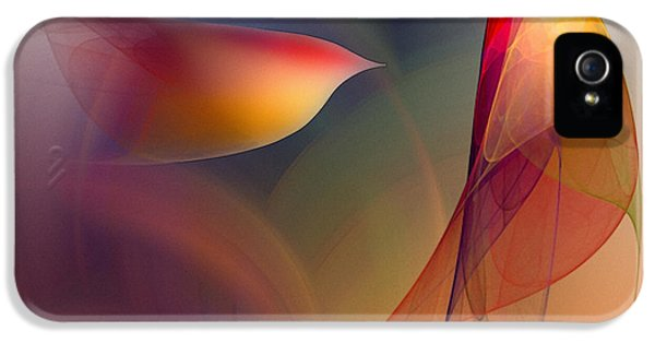 Contemplative iPhone 5 Cases - Abstract Fine Art Print Early in the Morning iPhone 5 Case by Karin Kuhlmann