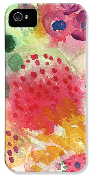 Commercial iPhone 5 Cases - Abstract Garden #43 iPhone 5 Case by Linda Woods