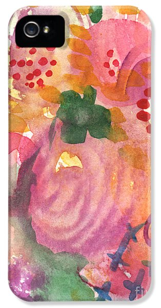 Commercial iPhone 5 Cases - Abstract Garden #44 iPhone 5 Case by Linda Woods