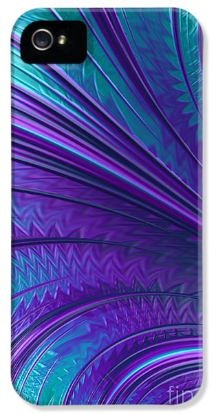 Creativity iPhone 5 Cases - Abstract in Blue and Purple iPhone 5 Case by John Edwards