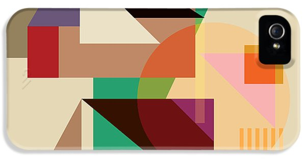 Modern Abstract iPhone 5 Cases - Abstract Shapes #4 iPhone 5 Case by Gary Grayson