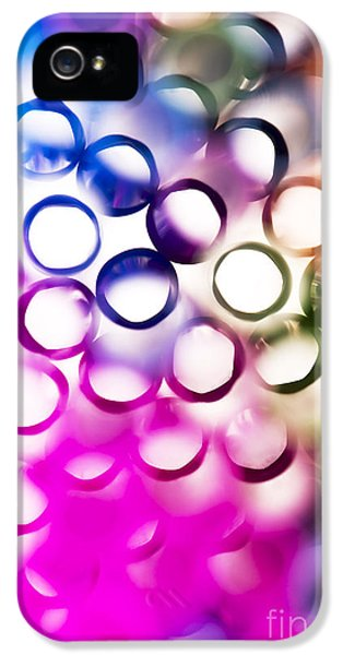 Vibrant iPhone 5 Cases - Abstract straws 2 iPhone 5 Case by Jane Rix
