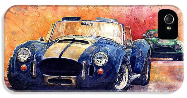 Classic Car iPhone 5 Cases - AC Cobra Shelby 427 iPhone 5 Case by Yuriy  Shevchuk