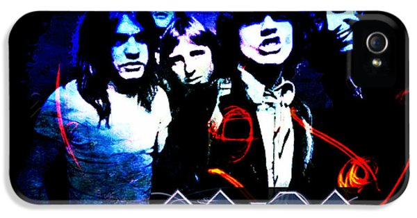 Ac/dc - Rock IPhone 5 / 5s Case by Absinthe Art By Michelle LeAnn Scott