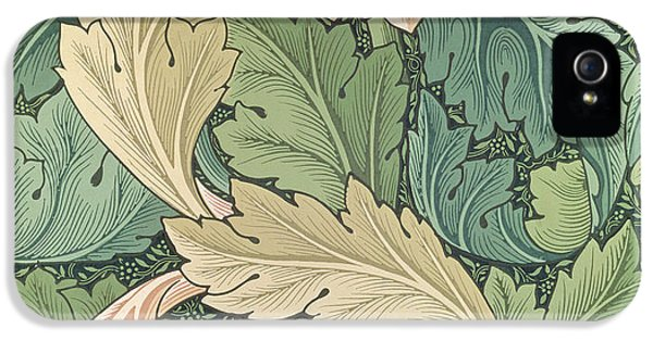 Arts And Crafts Movement iPhone 5 Cases - Acanthus wallpaper design iPhone 5 Case by William Morris