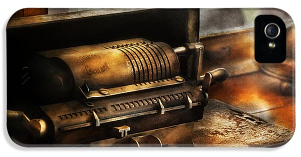 Steampunk iPhone 5 Cases - Accountant - The Adding Machine iPhone 5 Case by Mike Savad