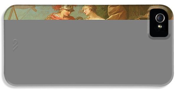 Classical iPhone 5 Cases - Achilles Leaving To Avenge The Death Of Patroclus Oil On Canvas iPhone 5 Case by Etienne Jeaurat
