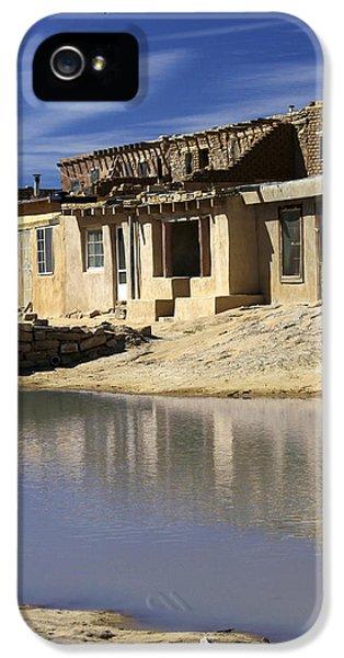 Pueblo iPhone 5 Cases - Acoma Pueblo Adobe Homes 2 iPhone 5 Case by Mike McGlothlen