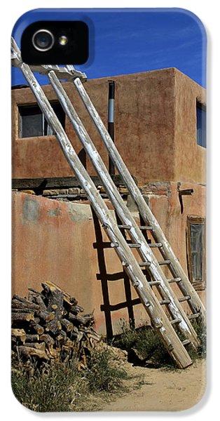 Pueblo iPhone 5 Cases - Acoma Pueblo Adobe Homes 3 iPhone 5 Case by Mike McGlothlen