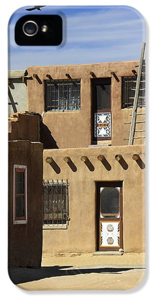 Pueblo iPhone 5 Cases - Acoma Pueblo Adobe Homes iPhone 5 Case by Mike McGlothlen
