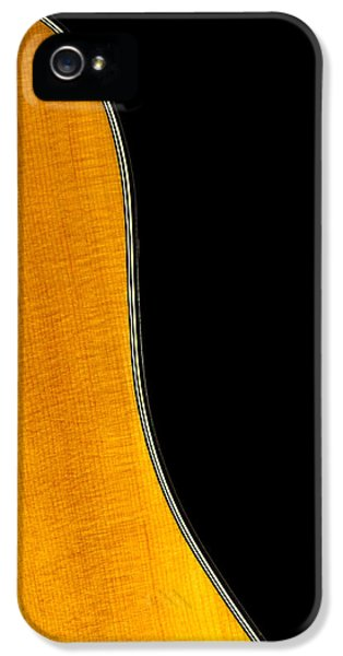 Acoustic iPhone 5 Cases - Acoustic Curve In Black iPhone 5 Case by Bob Orsillo