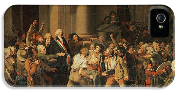Anger iPhone 5 Cases - Act Of Courage Of Monsieur Defontenay, Mayor Of Rouen, 29th August 1792 Oil On Canvas iPhone 5 Case by Louis Leopold Boilly