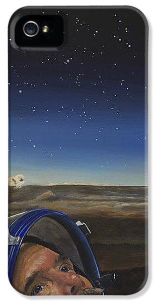 Nasa iPhone 5 Cases - Ad Astra - Col. Chris Hadfield iPhone 5 Case by Simon Kregar