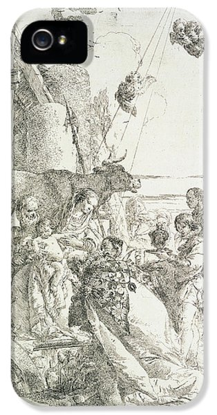 Happy Jesus iPhone 5 Cases - Adoration of the Magi iPhone 5 Case by Giovanni Battista Tiepolo