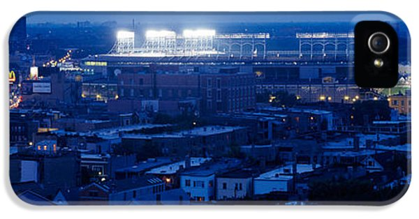 Aerial View Of A City, Wrigley Field IPhone 5 / 5s Case by Panoramic Images